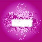 紫紅色花紋