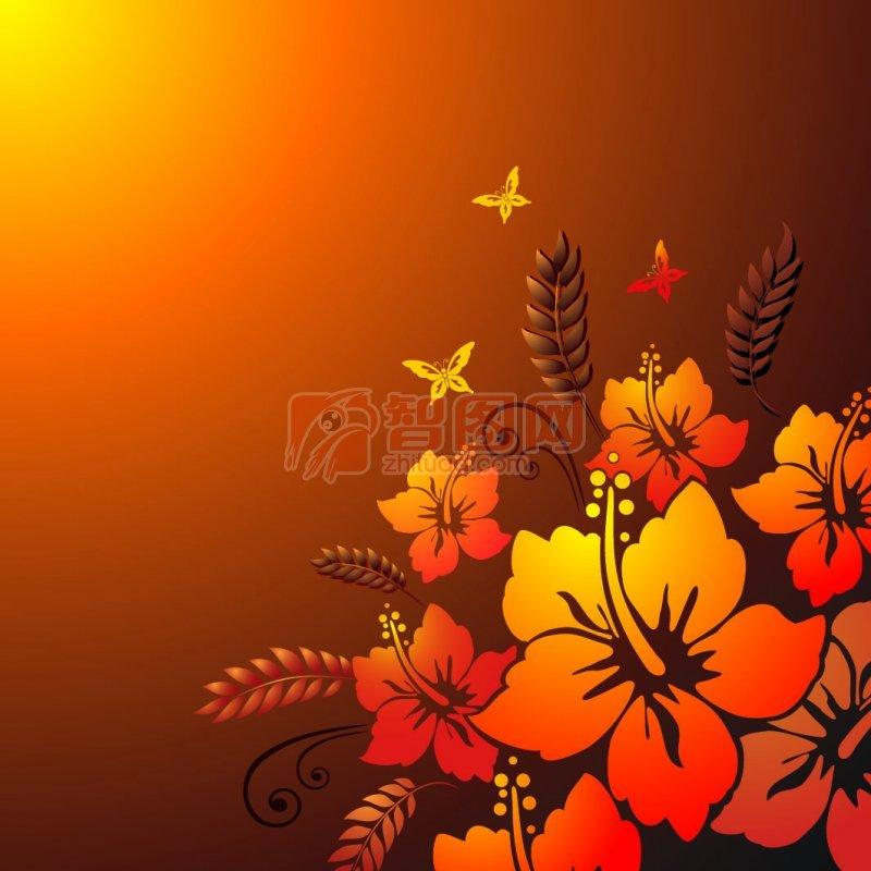 暗红色系花纹