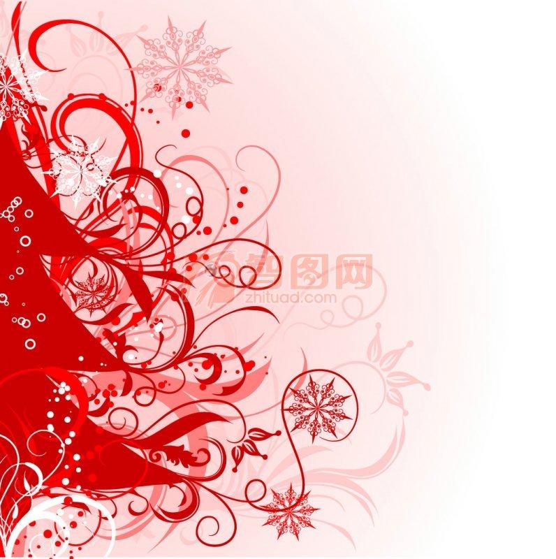 【ai】红色花纹