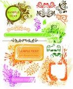 五彩花纹边框系列