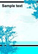 蓝色风景图