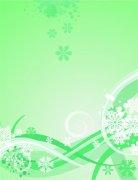 绿色欧式花纹