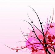 粉色欧式花纹
