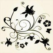 黑色欧式花纹