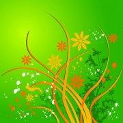 绚丽绿色花纹