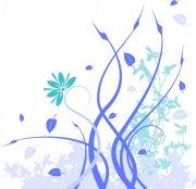 炫蓝色花纹
