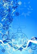 蓝色欧式花纹设计