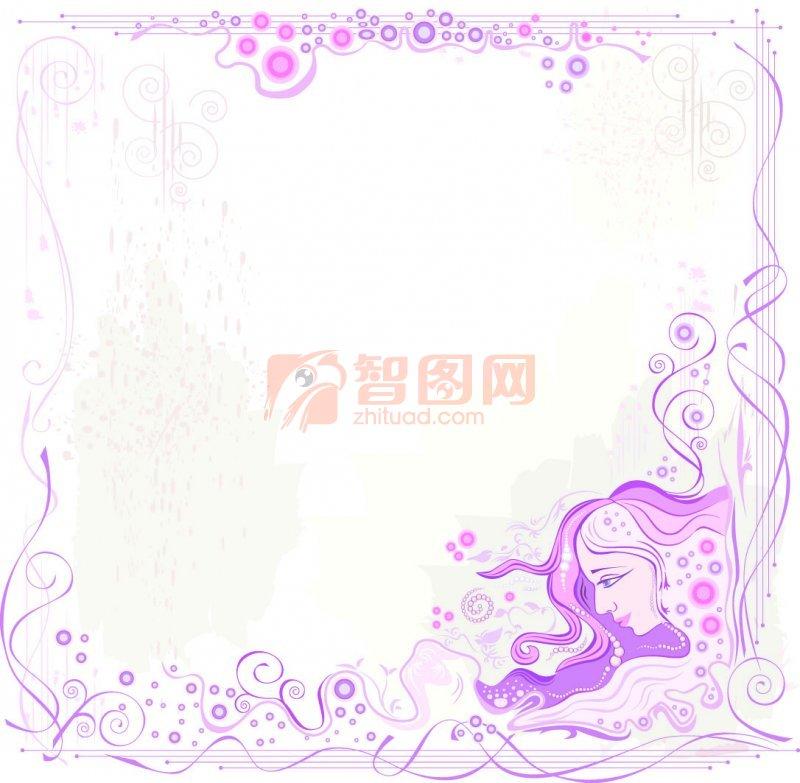 【ai】紫色花纹边框
