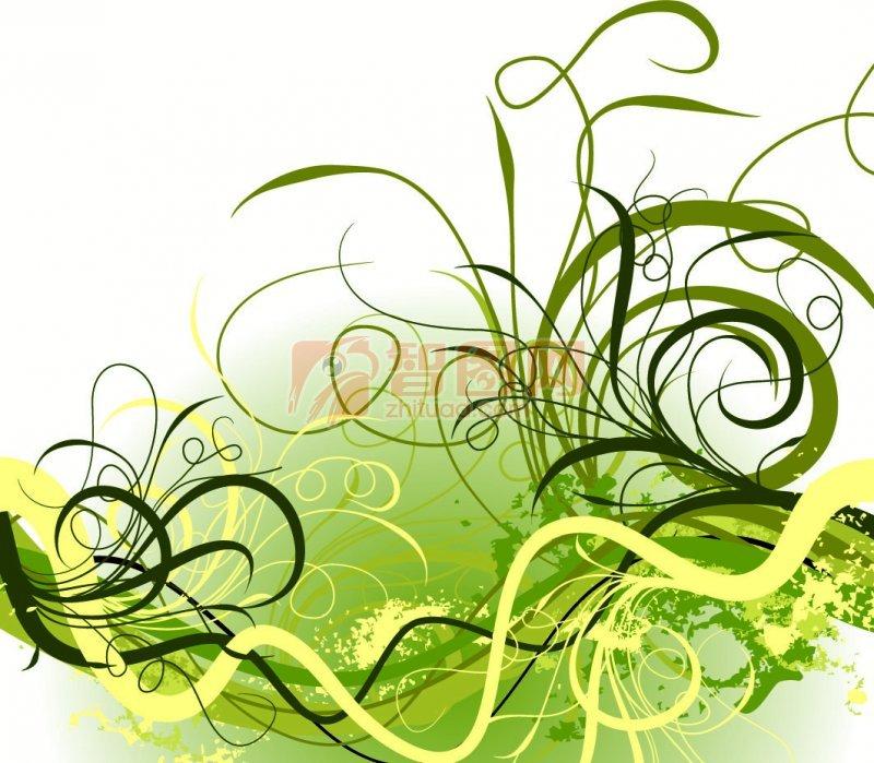 绿色背景 绿色花纹