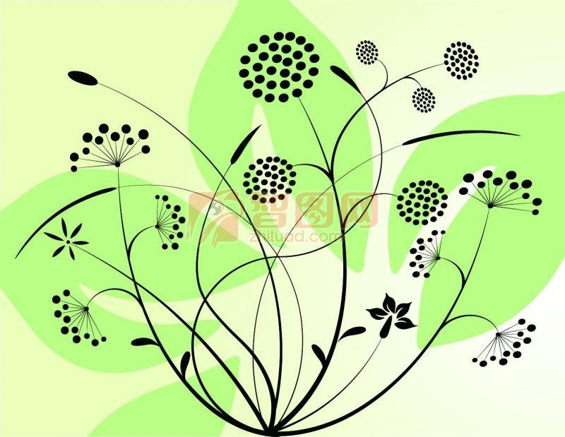 【ai】绿色欧式花纹