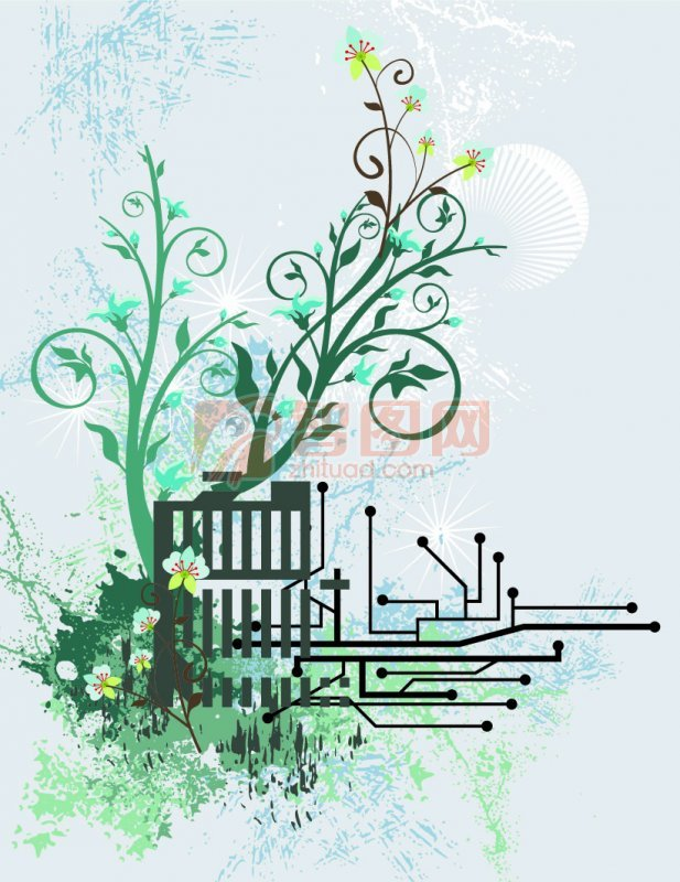 流行花纹 花纹设计素材 说明:-绿色花纹 上一张图片:  瓶子素材