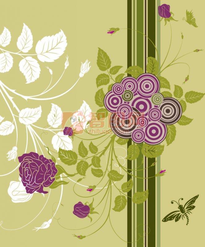 圆形钩针图解 花朵