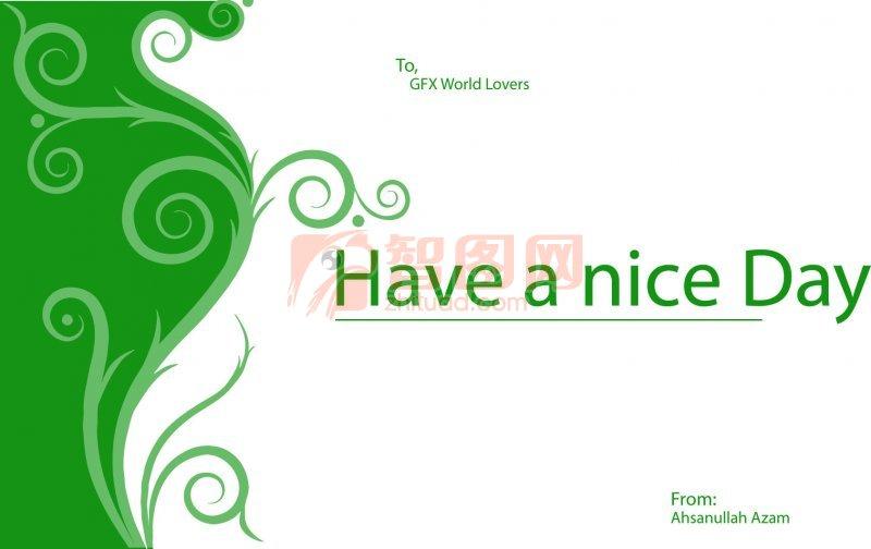 绿色字母素材