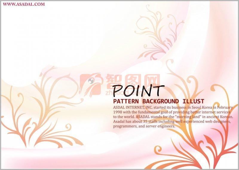 花紋海報素材