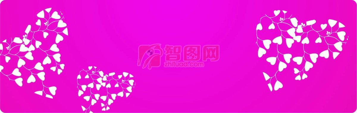 粉色背景花纹素材