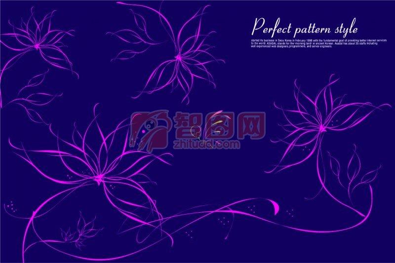 流行花紋元素