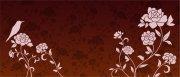 咖啡色背景花紋