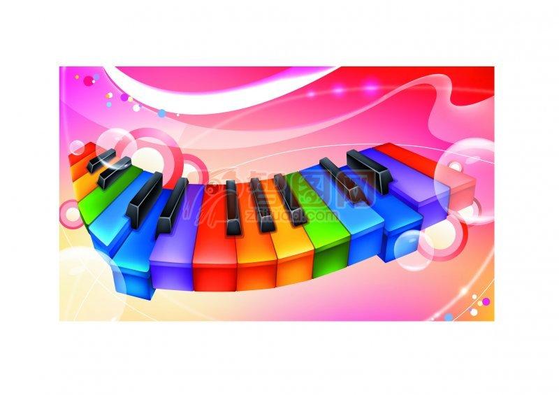 琴键花纹元素