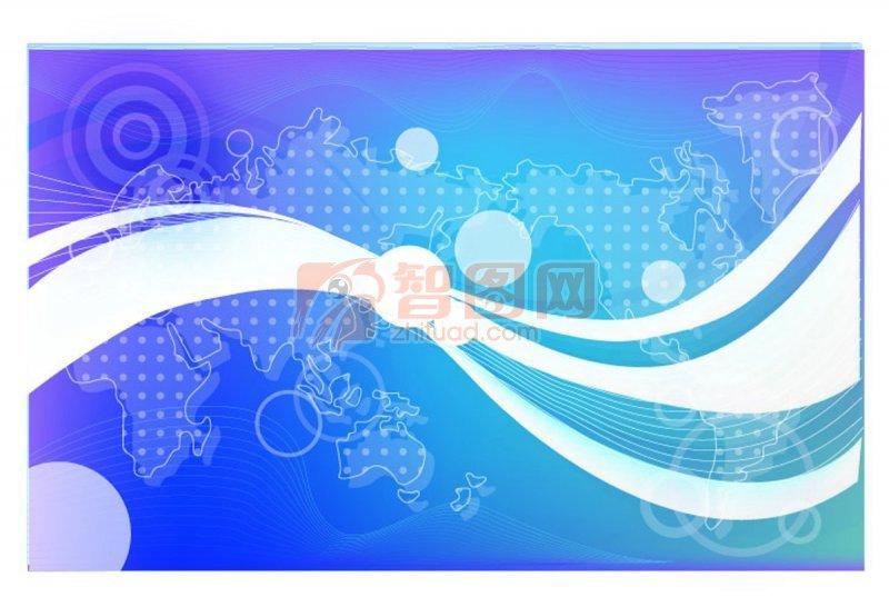 波浪形素材 蓝色背景