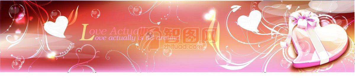 流行花纹素材 心形素材 心形盒子 粉色心形 花纹展板 花纹展板素材