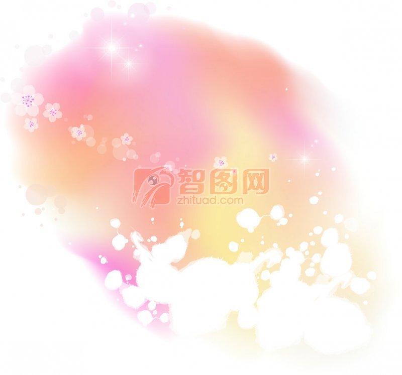 粉色白色欧式花边