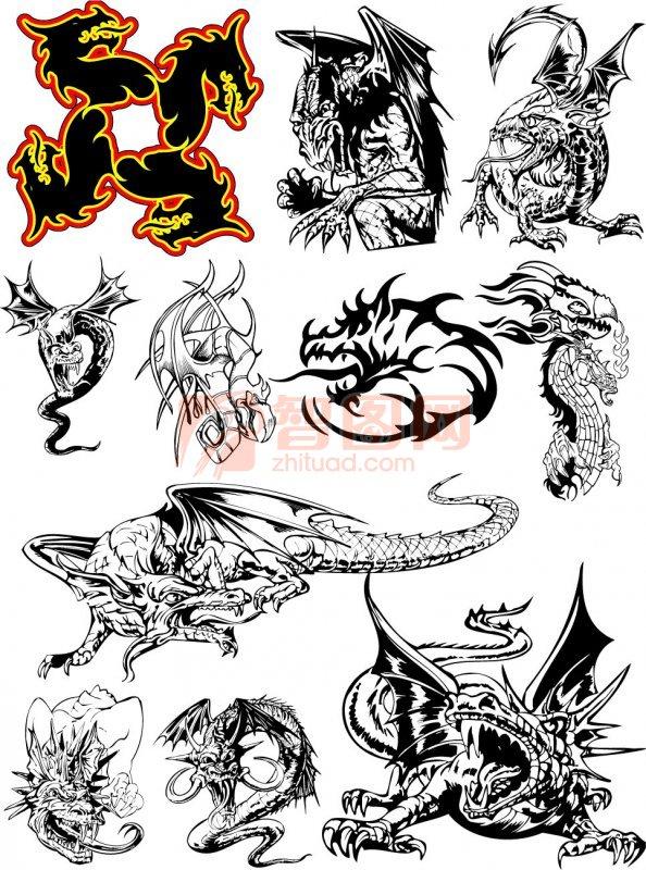 龙花纹设计