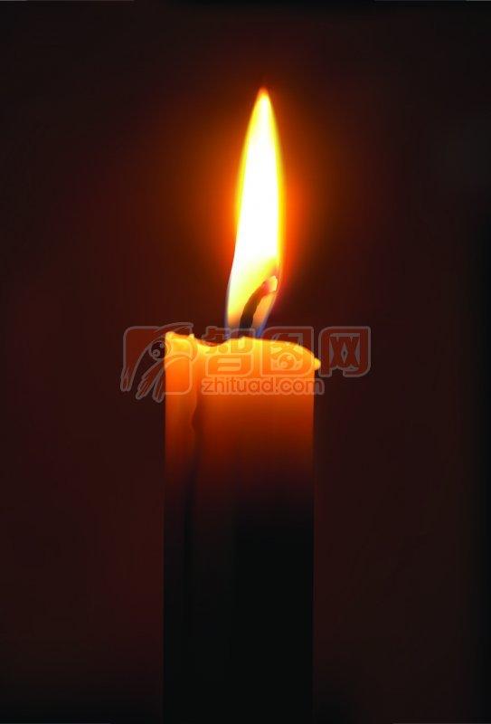 蜡烛海报设计