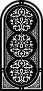 黑色花紋設計