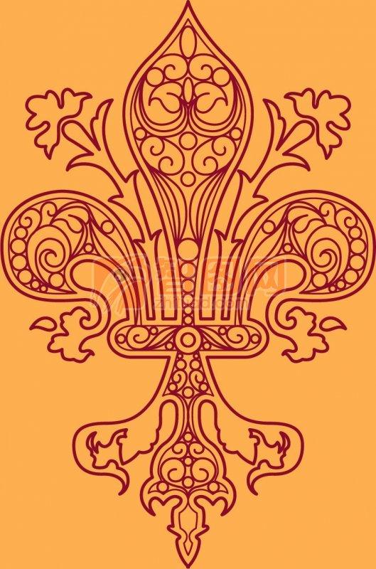 欧美花纹设计