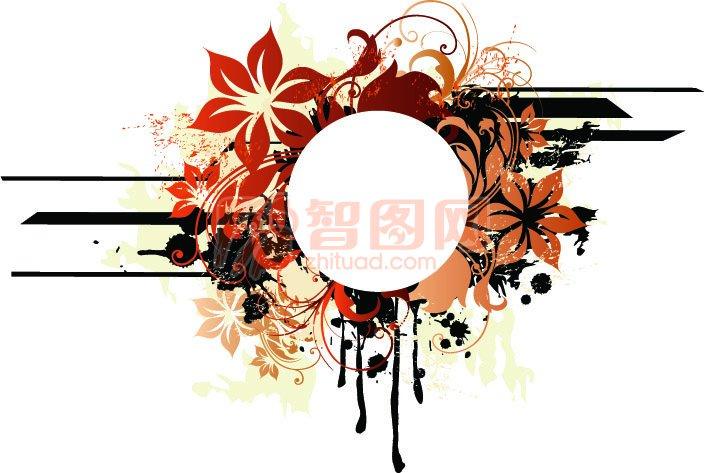 【ai】花环花纹设计