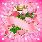 粉色花紋設計