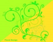 綠色花紋設計素材