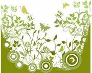 灰綠色花紋設計