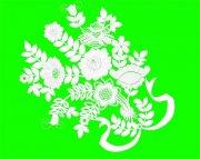 白色花紋設計