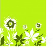 绿色背景花纹设计
