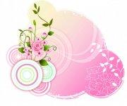淡彩花纹设计素材
