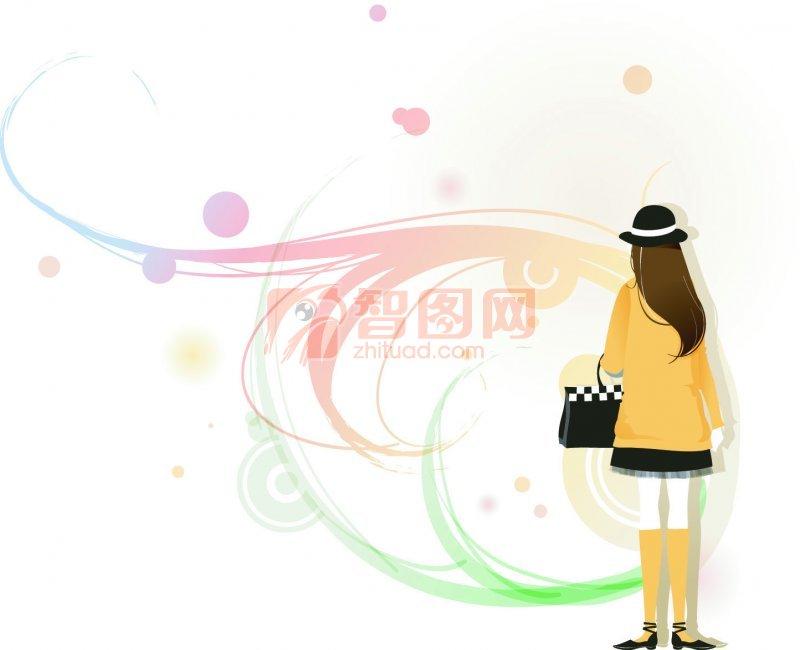 【ai】女孩背影