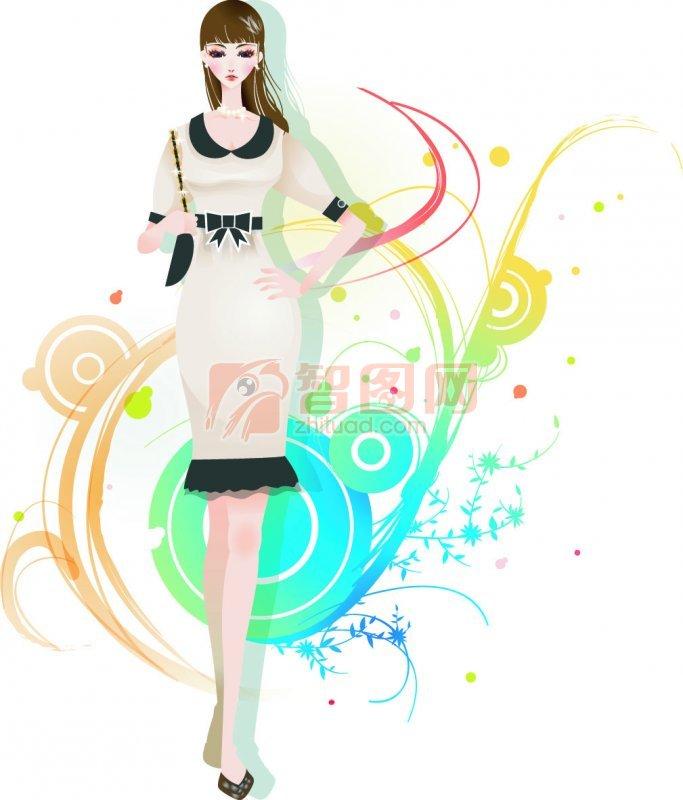 女子花纹设计
