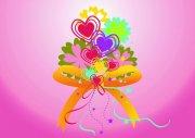 粉色背景花紋設計