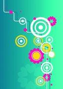 淺藍色背景花紋設計
