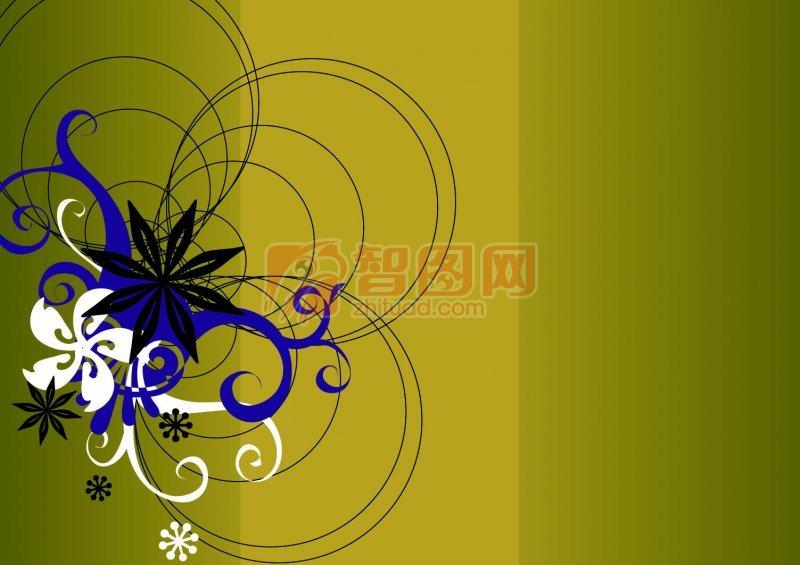黑色花纹设计