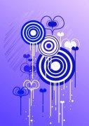 藍紫色的圓
