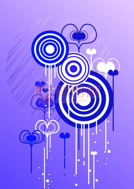 蓝紫色的圆