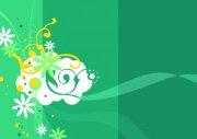 白色花朵底纹