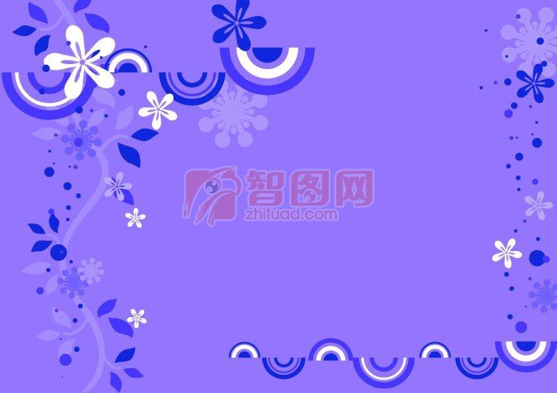 淡紫色花纹