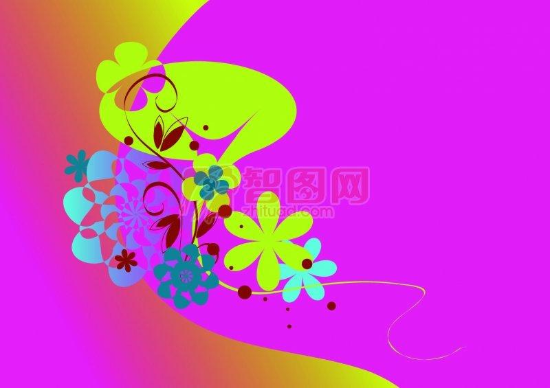 抽象图案架 抽象色彩 说明:-抽象粉 上一张图片:  紫色渐变素材