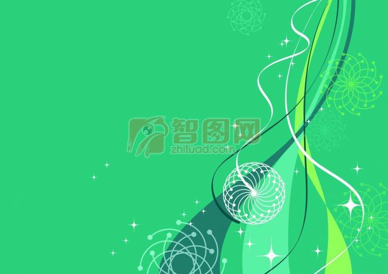 首页 矢量专区 底纹边框 底纹背景  关键词: 立体飘带素材 绿色背景