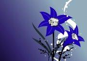 深藍色背景花紋設計