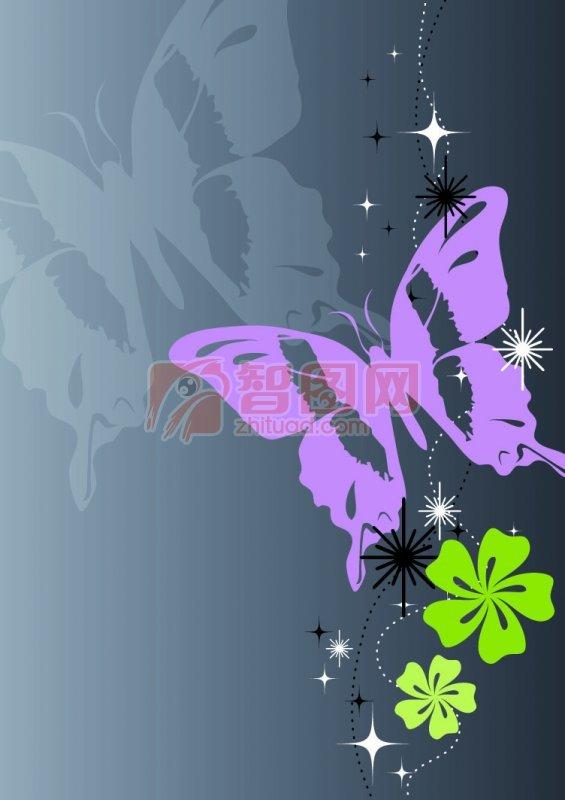 翠绿色花纹背景