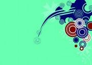 翠綠色背景花紋設計